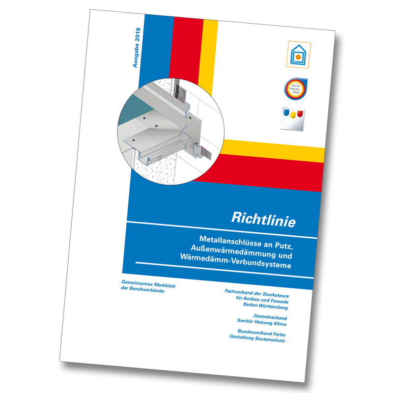 Broschüre Richtlinie 2018 Metallanschlüssean Putz und Wärmedämmverbundsysteme