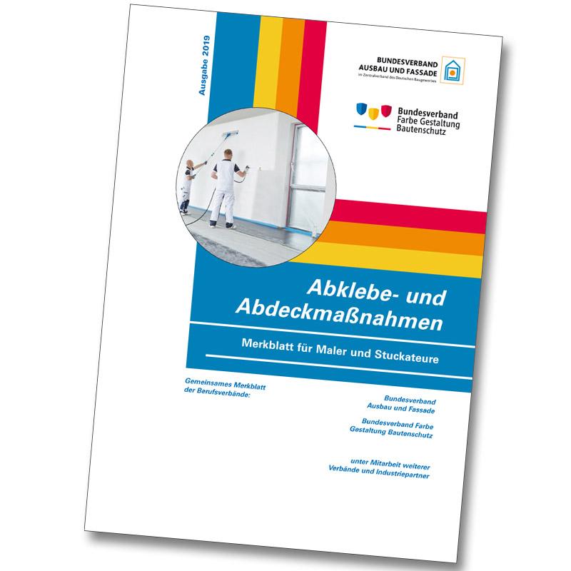 Broschüre Merkblatt 2019 Abklebe- und Abdeckmaßnahmen